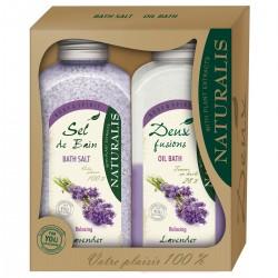 Set Cadou Naturalis Sare si Ulei de Baie Lavender
